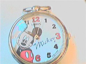 FUNNY LORUS MICKEY MOUSE LADIES QUARTZ WATCH RUNS