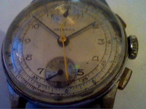 VINTAGE HELBROS VENUS 170 CHRONOGRAPH WATCH RUNS 4U2FIX