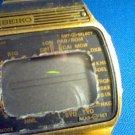 VINTAGE 1970'S WORLD TIME SEIKO ALARM LCD WATCH RUNS