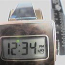 UNUSUAL FOLDING VINTAGE SEIKO ALARM LCD CLOCK  RUNS