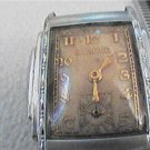 VINTAGE ART DECO SQUARE FLIPUP CASE BULOVA WATCH 4U2FIX