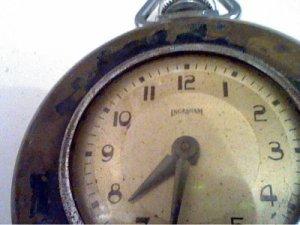 VINTAGE INGRAHAM POCKET WATCH OVERWOUND 4U2FIX