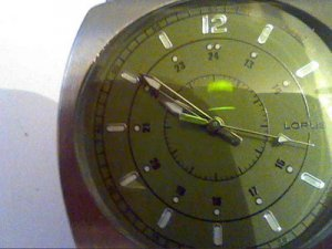 UNUSUAL BIG GREEN 24HR DIAL LORUS QUARTZ WATCH RUNS
