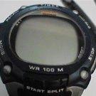 BLUE BEZEL TIMEX IRONMAN TRIATHALON INDIGLO LCD WATCH RUNS