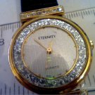 BEAUTIFUL STONE BEZEL ETERNITY LADIES QUARTZ WATCH RUNS
