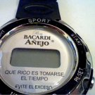 UNIQUE BACARDI ANEJO LCD TIME AND DAQTE WATCH RUNS