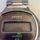 VINTAGE 1977 BULOVA LCD QUARTZ STEEL CASE WATCH 4U2FIX