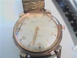 VINTAGE 1959 BULOVA WATERPROOF WATCH RUNS 4U2FIX HAND