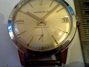 VINTAGE 1971 CARAVELLE SUB SEC DATE WATCH RUNS 4U2FIX
