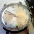 VINTAGE 1966 TIMEX WINDUP CHROME PLATED WATCH RUNS