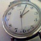 VINTAGE WHITE ENGLAND DIAL 1980 TIMEX WATCH RUNS 4U2FIX