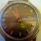 VINTAGE 1975 RED HANDS DAY DATE TIMEX WINDUP WATCH RUNS