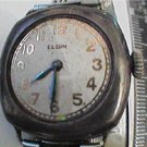 VINTAGE SILVER CASE ELGIN LADIES SQUARE WATCH 4U2FIX