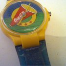 UNIQUE COLORFUL COCA COLA DIAL SWISS QUARTZ WATCH RUNS