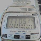VINTAGE ALARM CHRONOGRAPH LCD WATCH RUNS 4U2FIX