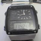 RARE UNIQUE ALBA SEIKO DUAL LCD ANALOG CHRON WATCH RUNS
