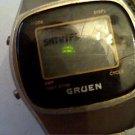 VINTAGE GRUEN LCD DATE WATCH 4U2FIX AND MISSING BACK