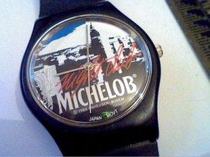 VINTAGE 1988 MICHELOB NIGHT CLUB QUARTZ WATCH RUNS 4FIX