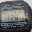 RARE CASIO ILLUMINATOR W86 ALARM CHRONO WATCH RUNS