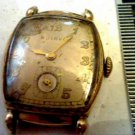 VINTAGE SQUARE BULOVA 10AK 17 JEWEL WATCH 4U2FIX