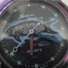 interesting fish dial jack couture quartz watch runs