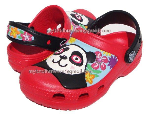 Kids Red Iridescent Creative Cute Panda Girls Sandals Shoes US Size 6c7 8c9 10c11 12c13