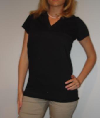 NWT CHARLOTTE RUSSE black hoodie long tunic shirt (sz S)
