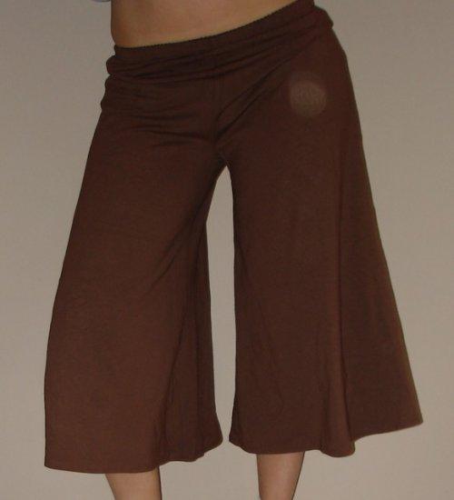 NEW J JILL brown capri capris gaucho gauchos pants sz XS