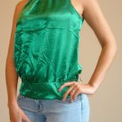 NWT FOREVER 21 green satiny sleeveless tank top sz S, M