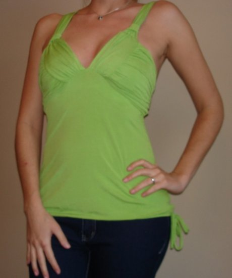 NWT CHARLOTTE RUSSE green padded racerback tank top M