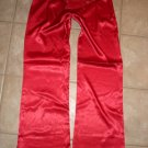 NWT CATWALK red satiny belted bootcut pants sz M 6 7, L 8 9