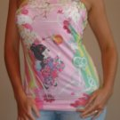NWT FOREVER 21 japanese asian cartoon pink tube top S, M