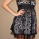 NEW FOREVER 21 black cream lace mini frock dress sz S, M, L