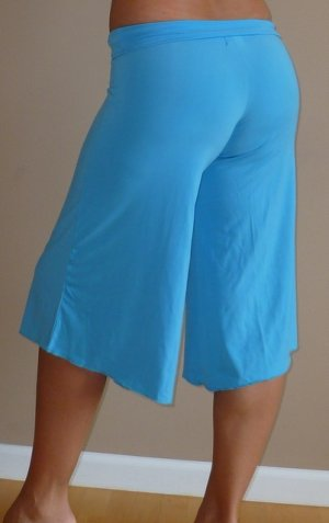 NEW SKY BLUE foldover waist gaucho gauchos pants sz M L