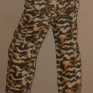 NWT DATING tan low camou army camouflage CAPRI pants S M L