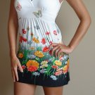 NEW POETRY black white floral print tank dress S M