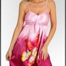NWT CASUAL pink butterfly metallic dress sz S M L