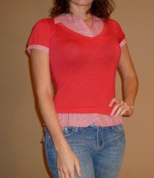 NEW HAVE red plaid rockabilly short slv shirt sz S M L