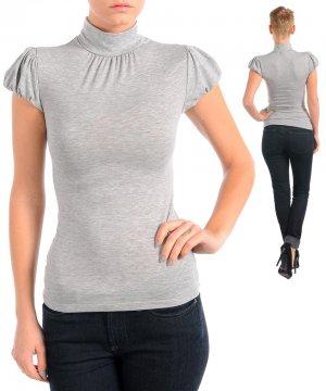 NEW FINESSE light grey short sleeve mock turtleneck shirt S M L PLUS XL 1X 2X 3X
