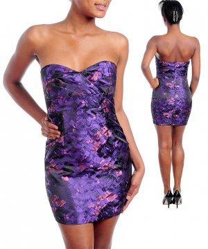 NEW KUDU purple pink strapless sweetheart dress S M L