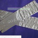 Bridal Accessories-White or Ivory Satin Ruffled Finger Wedding Gloves G21