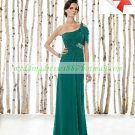 Free Shipping 2012 One Shoulder Green Chiffon Ruffled Beaded the Mother of  Bridal Dress 1(16)