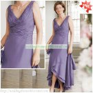 Free Shipping Double Straps Purple Chiffon Ruffled Beaded the Mother of  Bridal Dress 1(25)