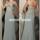 Free Shipping Double Straps Green Chiffon Embroider Beaded the Mother of  Bridal Dress 1(34)