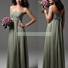 Free Shipping 2012 Strapless Blue Chiffon Beaded Empire Maternity Bridesmiad Dress Evening Dress