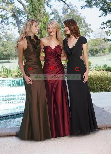 2012 Hot Sale Short Sleeves Black Chiffon Lacework Ruffled Bridesmiad Dress Evening Dress B9-C