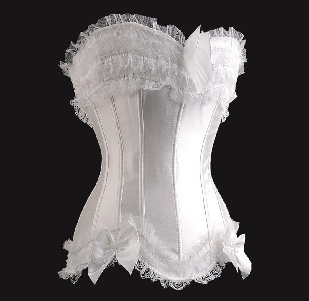 Wholesale Retail Lacework Sexy Lingerie Overbust Corset Sweetheart with Lace Up Back Underwear S05