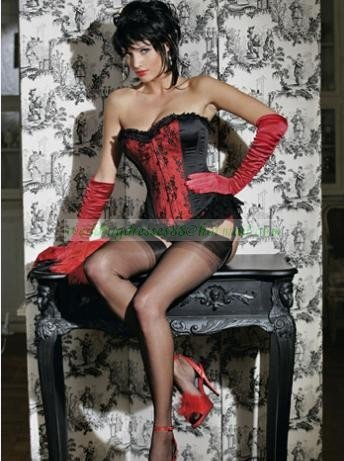 Sexy Lingerie Floral Brocade Overbust Corset Sweetheart with Lace Up Back  Bodysuits S40