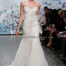 2012 New Style Strapless White Ivory Lace Organza Bowknot Mermaid Bridal Gown wedding dress CS8