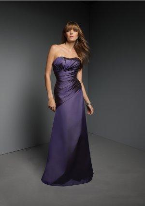2013 Hot Sale Strapless Blue Taffeta Pleat Bridesmaid Dress Evening Dress Party Dress